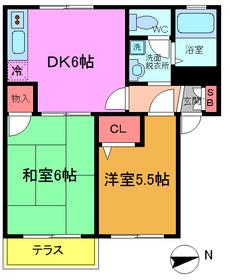 市川駅 徒歩30分1階Fの間取り画像