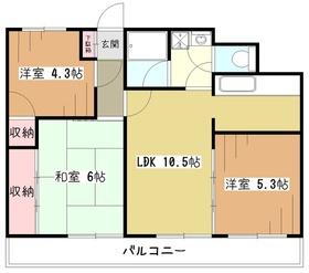 ドミール八坂4階Fの間取り画像