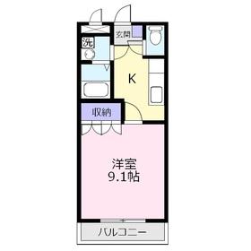 プランドール・ソフィア1階Fの間取り画像
