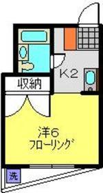元住吉駅 徒歩12分4階Fの間取り画像