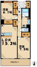 ロイヤルパークス若葉台12階Fの間取り画像