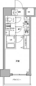 ジェノヴィア川崎駅グリーンヴェール6階Fの間取り画像