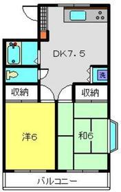 クリフサイド神尾第22階Fの間取り画像