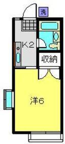 平間駅 徒歩6分1階Fの間取り画像