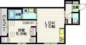 大崎駅 徒歩19分3階Fの間取り画像