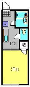 ラティハウス松田1階Fの間取り画像