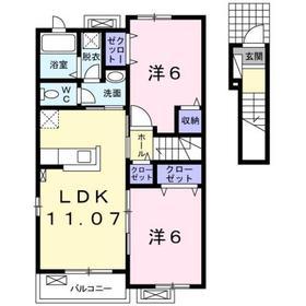 コリーナ2階Fの間取り画像