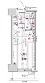 ガーラ新横浜グランドステージ9階Fの間取り画像