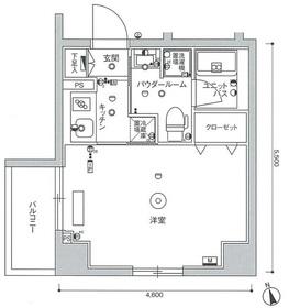 スカイコート世田谷等々力EAST5階Fの間取り画像
