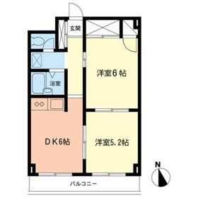 グレースヒル2階Fの間取り画像