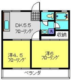 綱島駅 徒歩13分2階Fの間取り画像