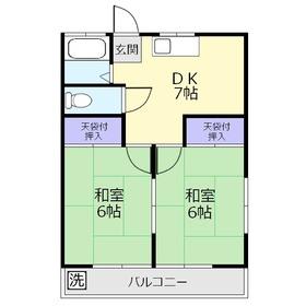 泉ハイツ1階Fの間取り画像