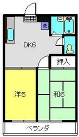 シャルマン三ツ境3階Fの間取り画像