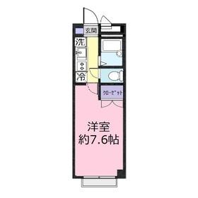アンプルールフェール 上福岡Ⅱ3階Fの間取り画像