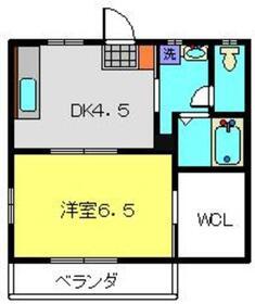 パレキャトルB2階Fの間取り画像