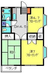 ハイムケンショウ61階Fの間取り画像