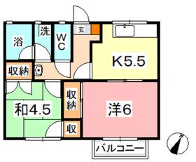 アコオグリーンタウン2階Fの間取り画像