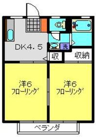 柴田ガーデンハイツF棟1階Fの間取り画像