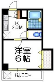 ドミールY・M3階Fの間取り画像