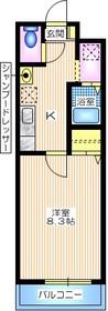 シェモア横浜1階Fの間取り画像