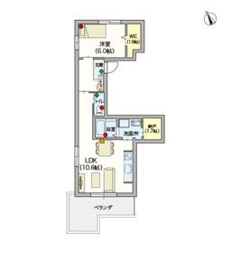 (シニア限定)Vista4階Fの間取り画像