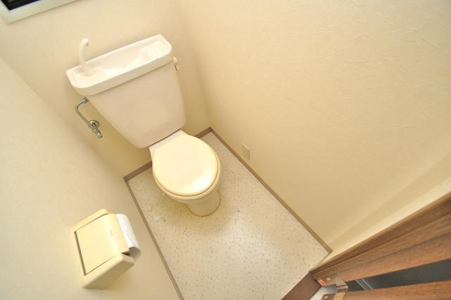 OKハイツ神路 白くてピカピカのトイレですね。癒しの空間になりそう。
