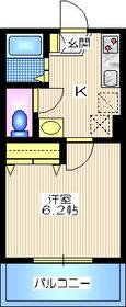 メゾン山手1階Fの間取り画像