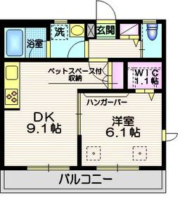 Bell Deer3階Fの間取り画像