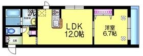 ヘーベルメゾン キャメリア2階Fの間取り画像