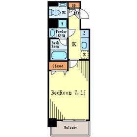 プレール・ドゥーク月島3階Fの間取り画像