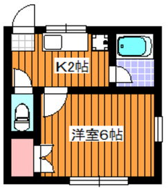 錦ハイム2階Fの間取り画像