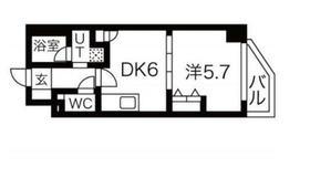 エムエー大口マンション5階Fの間取り画像