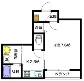 エスコート浅野2階Fの間取り画像