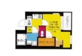 b'CASA Yokohama Higashi3階Fの間取り画像