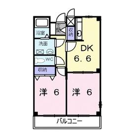 シュトラーセ2階Fの間取り画像