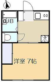 ブライトハイツ1階Fの間取り画像