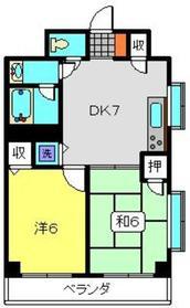 メゾンYK2階Fの間取り画像