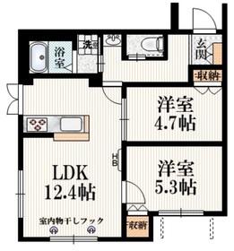 クレアール1階Fの間取り画像