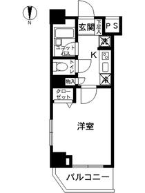 スカイコート錦糸町第23階Fの間取り画像