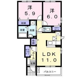 サニー コートⅡ1階Fの間取り画像