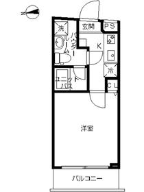 スカイコート牛込神楽坂1階Fの間取り画像
