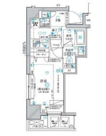 ディアレイシャス横浜WEST7階Fの間取り画像