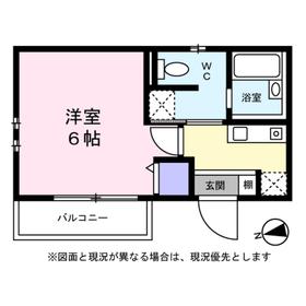 東寺尾スマイルK1階Fの間取り画像
