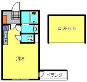ヨコハマフォーチュンクッキー2階Fの間取り画像