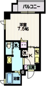 朝日マンション7階Fの間取り画像