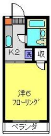 グレージュアピア2階Fの間取り画像