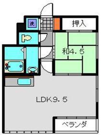 グレートピア横浜2階Fの間取り画像