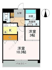 東仙台駅 徒歩17分3階Fの間取り画像