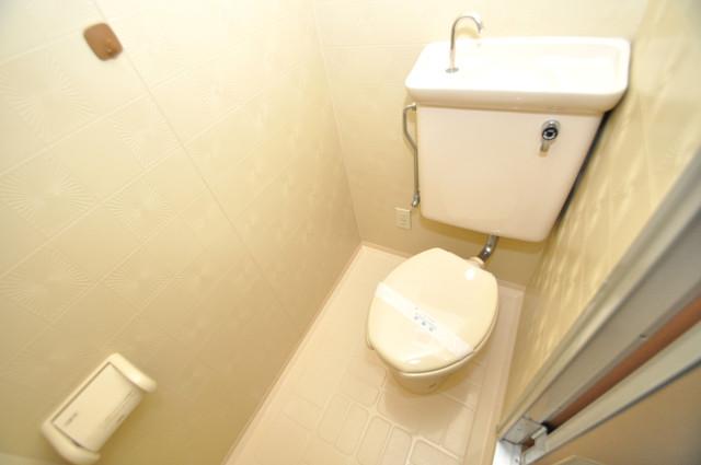 グランデコ 清潔感のある爽やかなトイレ。誰もがリラックスできる空間です。