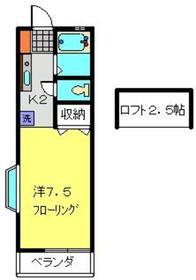 PENINSULA2階Fの間取り画像